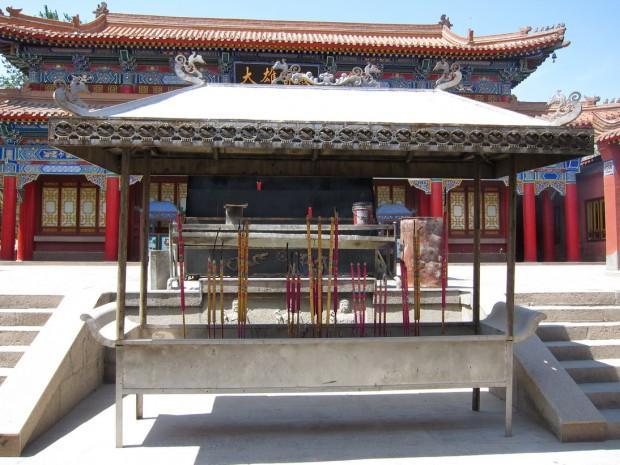 Курильня на территории храма