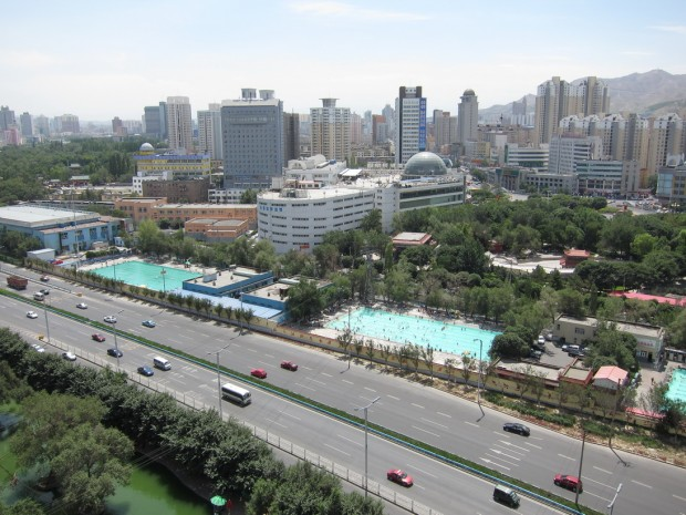 Вид на город Урумчи