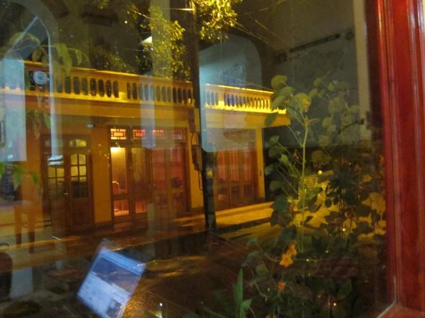 Вьетнам. Сапа. Вечер. Вид из окна отеля.